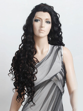 Anime Costumes AF-S2-355110 Beautiful Black Curly Synthetic Long Women's Lace Wig
