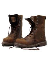 Dark Brown Cowhide Round Toe Fabulous Man's Boots