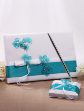 Great Flower Card Paper Wedding Guest Book and Pens