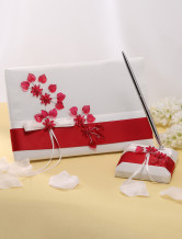 Amazing Flower Card Paper Wedding Guest Book and Pens