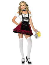 Anime Costumes AF-S2-365943 Halloween Mahogany Saloon Girl Sexy Costume For Women