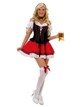 Anime Costumes AF-S2-365949 Halloween Red Saloon Girl Naught Sexy Costume For Woman