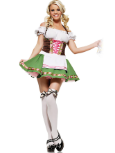 Anime Costumes AF-S2-365975 Quality Green Maid Woman's Halloween Costume
