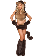 Anime Costumes AF-S2-365917 Halloween Cute Tan Spandex Catwoman Costume for Women