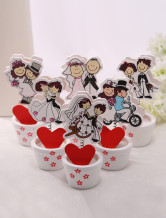 Cute Wood Cards Holder for Wedding Set of 6