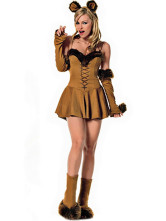 Anime Costumes AF-S2-365915 Halloween Quality Light Brown Spandex Women's Catwoman Costume