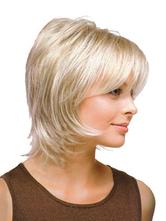 Breve parrucca su naturale avorio donne etero