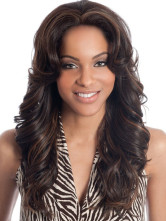Long Brown Wigs Curly Synthetic Wig African American Hair Wigs
