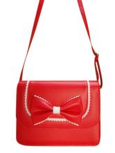 Lolitashow Beautiful Bow PVC Lolita Bag