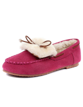 Comfortable Pigskin Woman's Boat Shoes