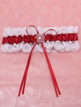 Lovely Burgundy Polyester Wedding Garter for Bride
