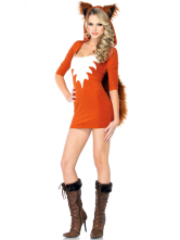Anime Costumes AF-S2-377581 Halloween Sexy Orange Cotton Blend Woman's Sexy Costume