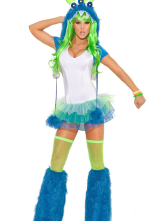 Anime Costumes AF-S2-378319 Halloween Amazing Blue Ox Women's Sexy Costume