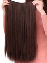 AF-S2-379565 Light Brown Synthetic Long Straight Modern Hair Extensions For Women