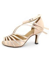 Zapatos de bailes latinos de color nude