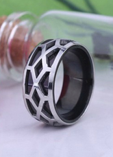 Black Hollow Out Stainless Steel Great Ring For Man