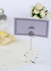 Crystal Sea Star Place Cards Holder