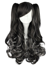 Lolitashow Long Curly Dandy Multi Color Rayon Lolita Wig