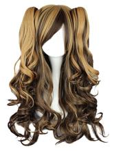 Rayon longo encaracolado elegante moda Lolita peruca