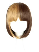 Lolitashow Fashion Short Two-Tone Rayon Lolita Wigs