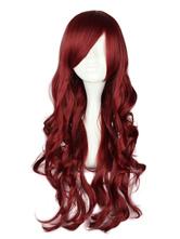 Lolitashow Angle Burgundy Curly Rayon Lolita Wig