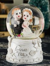 White Couple Crystal Ball for Wedding