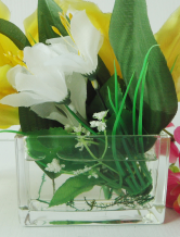 Rectangular Glass Wedding Vase