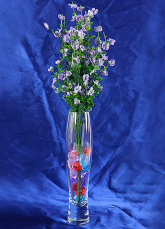 Transparent Elliptical Glass Wedding Vase Table Centerpiece