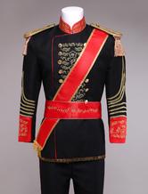 Anime Costumes AF-S2-403275 Royal Retro Costume Men's Black European Vintage Prince Charming Costume Outfit