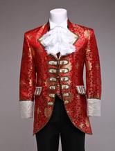 Costume rétro rouge jacquard  Déguisements Halloween