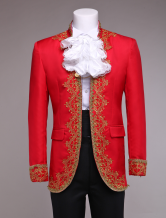 Anime Costumes AF-S2-403271 Retro Prince Costume Men's Red European Style Vintage Royal Costume Outfit