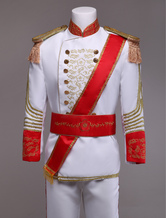 Anime Costumes AF-S2-403277 Royal Retro Costume Men's White European Vintage Prince Charming Costume Outfit