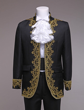 Anime Costumes AF-S2-403265 Baroque Prince Costume Black European Style Men's Vintage Royal Costume Outfit