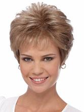 Короткий парик светло коричневый термостойкого волокна натуральных женщин