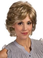 Льняные термостойкого волокна высокого качества женщины короткий парик