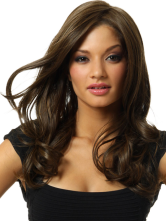 Anime Costumes AF-S2-407911 Brownish Black Curls at Ends Heat-resistant Fiber Vintage Chic Medium Wig