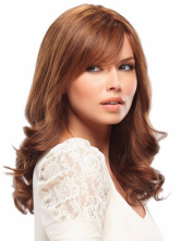 Anime Costumes AF-S2-408173 Brown Shoulder Length Curly Heat-resistant Fiber Sweet Woman's Medium Wig