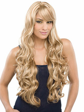 Anime Costumes AF-S2-407927 Flaxen Full-Volume Curls Heat-resistant Fiber Sexy Women's Long Wig