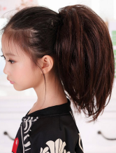 Anime Costumes AF-S2-409683 Brown Tousled Straight Kanekalon Short Horse-Tail