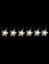 6-Piece White Metal Rhinestone Imitation Pearl Hairpin for Brides