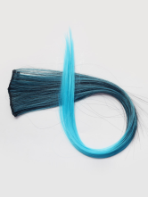 Anime Costumes AF-S2-414301 Ombre Ocean Blue Medium 20 inches Popular Straight Clip in Hair Extensions