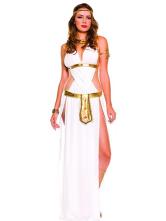 Anime Costumes AF-S2-420667 Halloween Attractive White Matte Satin Arabian Women's Sexy Fantasy Costume