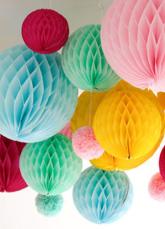 4-Peça qualidade papel pérola casamento decoração bola