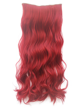 Anime Costumes AF-S2-424033 Tousled Long Dark Red Heat-resistant Fiber Extension