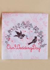 20-Piece Garden Birds Print Specialty Paper Wedding Napkins