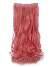 Anime Costumes AF-S2-424023 Pink Tousled Curly Heat-resistant Fiber Long Extension
