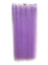 AF-S2-424049 Attractive Tousled Long Lavender Heat-resistant Fiber Extension