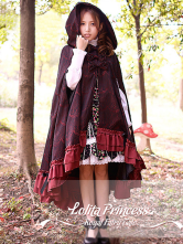 Lolitashow Sweet Ruffled Asymmetrical Trim Lolita Jackets