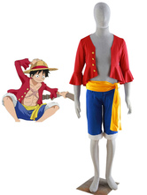 Anime Costumes AF-S2-430989 One Piece Luffy Cosplay Costume Set