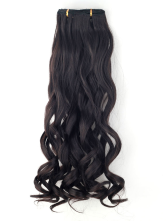 Anime Costumes AF-S2-434633 Black Tousled Curly Synthetic Long Clip in Hair Extensions